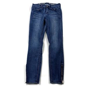 Madewell Skinny Skinny Ankle Zippers Dark Wash